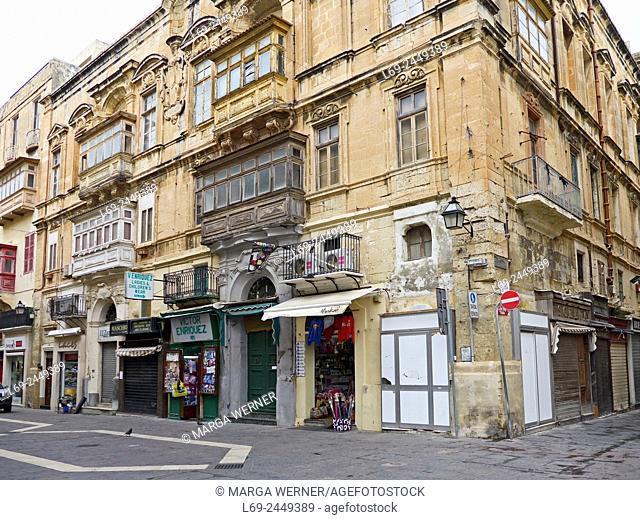 Old town of Valetta, island Malta, Medeterranean Sea