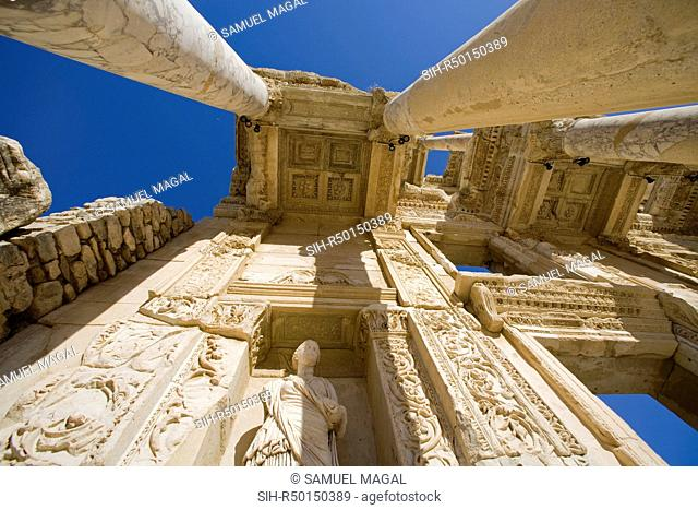 The library of Celsus was build over the tomb of Gaius Julius Celsus Polemeanus, the General Governor of the Asian Province