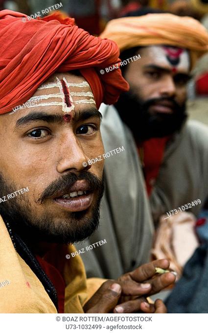 Shiva followers sadhus in West Bengal, India
