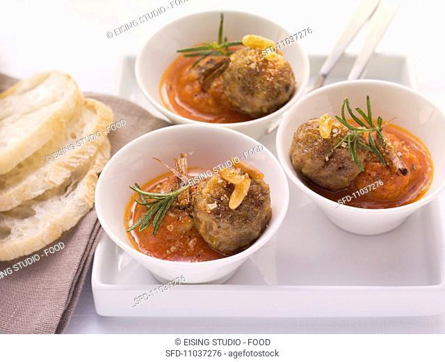 Albondigas Andaluz Spanish meatballs in tomato sauce