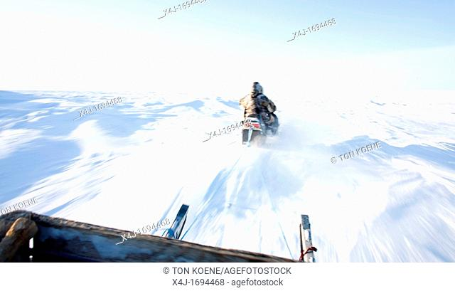 Gojahaven is a town in the far north of canada in 1000 where Inuits living snow mobiles are the main transport on the North pole Every Inuit owns one and has...