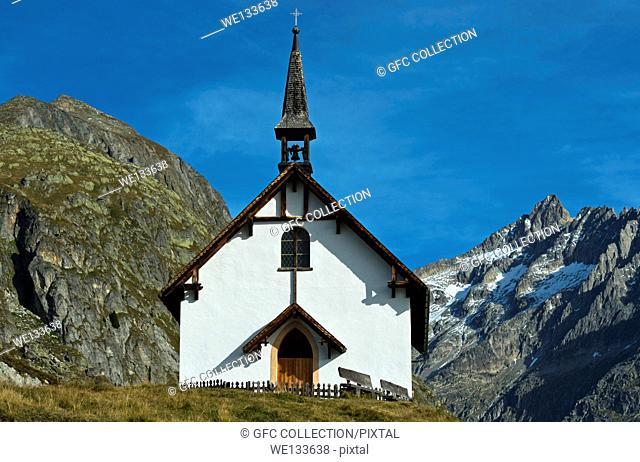 Mountain chapel Belalp, Valais, Switzerland