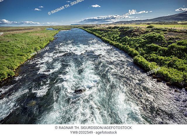 Natural fresh water, Tungufljot river, Iceland