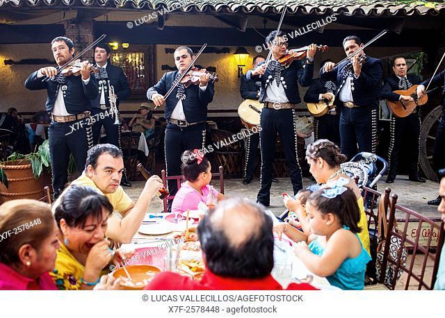 Mariachis in El Abajeño restaurant, Juarez 131, Tlaquepaque, Guadalajara, Jalisco, Mexico