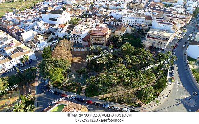 Alhaurin de la Torre village aerial view, Málaga, Andalusia, Spain