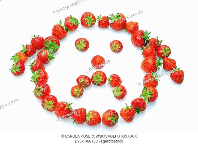 Europe, D, Germany, Brandenburg, Strawberries, smiley