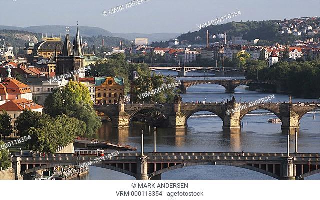 high angle view of Prague