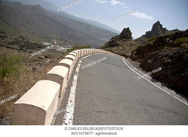 Mountain road, Tenerife, Canary Islands, Spain