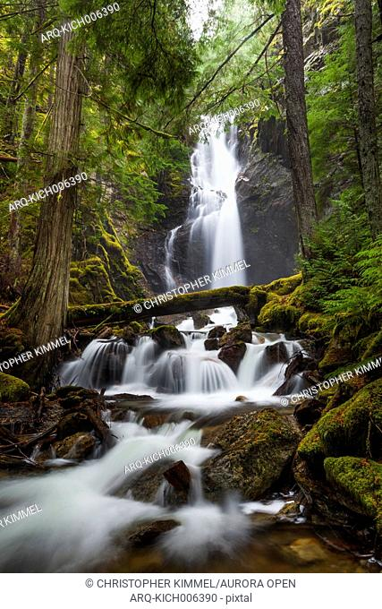 Cedar Hollow Falls, located along the Ross Dam Trail in the North Cascades National Park, Washingon
