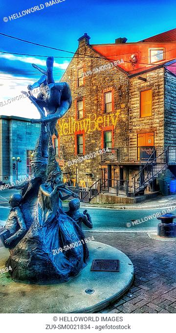 Bronze sculpture A Time by Morgan MacDonald and the Yellow Belly Brewery, St. John's, Newfoundland, Canada