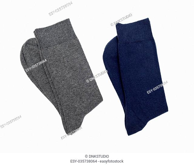 men's socks on a white background