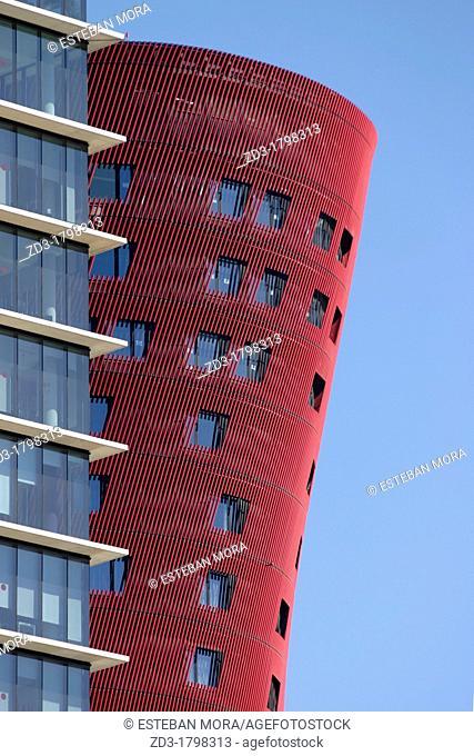 Buildings in Plaça d'Europa, L'Hospitalet de Llobregat, Barcelona province, Catalonia, Spain