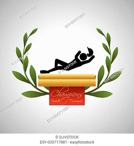 Baseball concept with icon design, vector illustration 10 eps graphic
