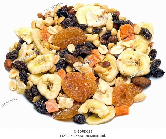 Trail mix a mix of dried fruit, nuts and other healthy foods
