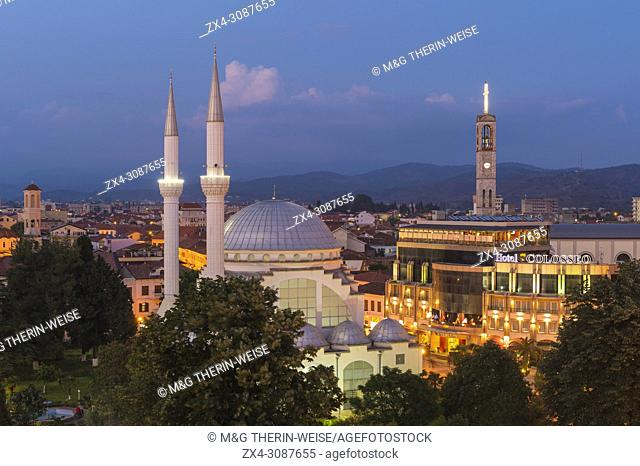 Ebu Beker Mosque at twilight, Shkodra, Albania