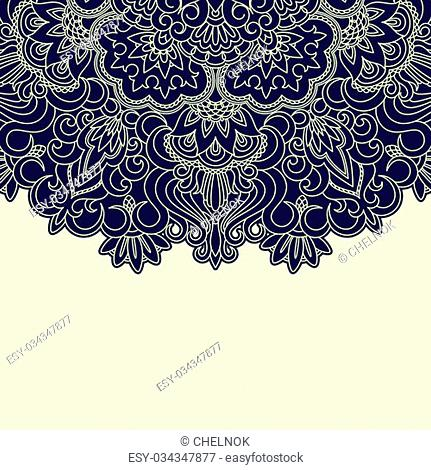 Vector illustration with vintage pattern for print
