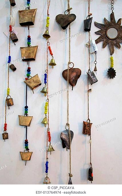 Line of necklaces in Agra, India