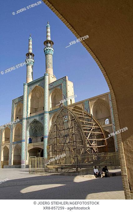 Iran Yazd Masjed-e Mir Chaqmaq with Naql