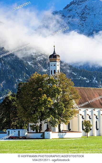 Beautiful Pilgrimage Church St. Coloman near Schwangau, Bavaria, Germany, Europe