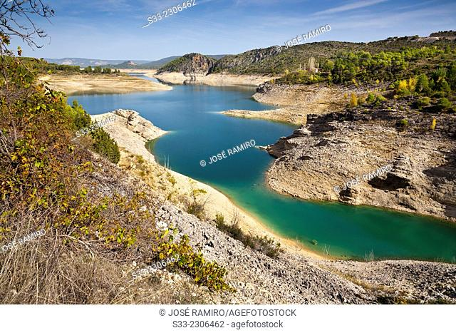 Entrepeñas reservoir in Sacedón. Guadalajara. Castilla la Mancha. Spain. Europe