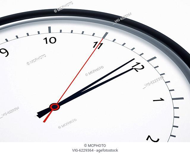 BUNDESREPUBLIK DEUTSCHLAND, BAYERN, An image of a nice clock five seconds to twelve - Bayern, Bayern, Germany, 01/01/2018