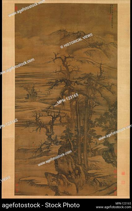 Landscape after a poem by Wang Wei. Artist: Tang Di (Chinese, ca. 1287-1355); Period: Yuan dynasty (1271-1368); Date: dated 1323; Culture: China; Medium:...