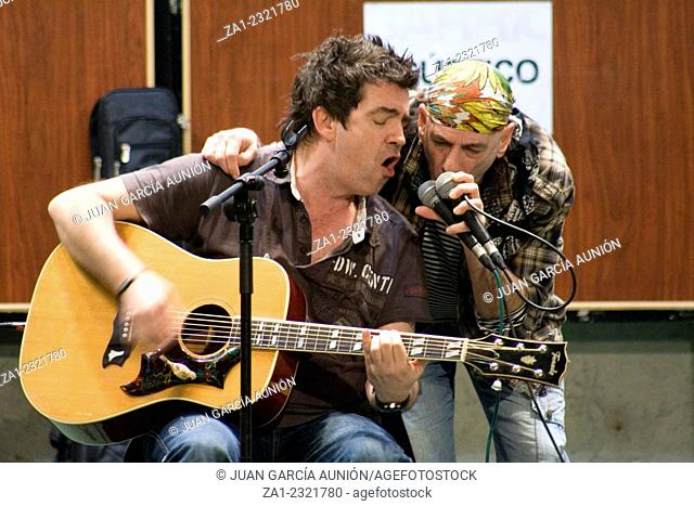 unplugged performance of rock band Barricada during the Dulce Chacon writer memorial, March 19, 2010 in Zafra, Spain