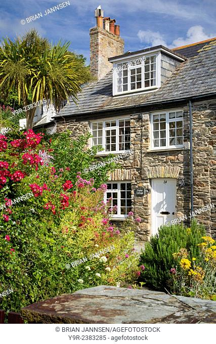 Poplar Cottage in seaport town of Port Isaac, Cornwall, England