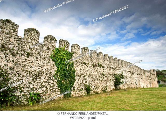 13th century walls, Llanes, Asturias, España