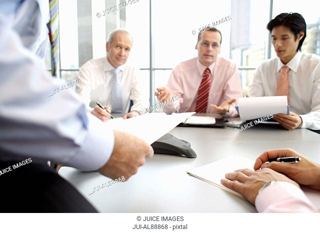 Businessmen having meeting