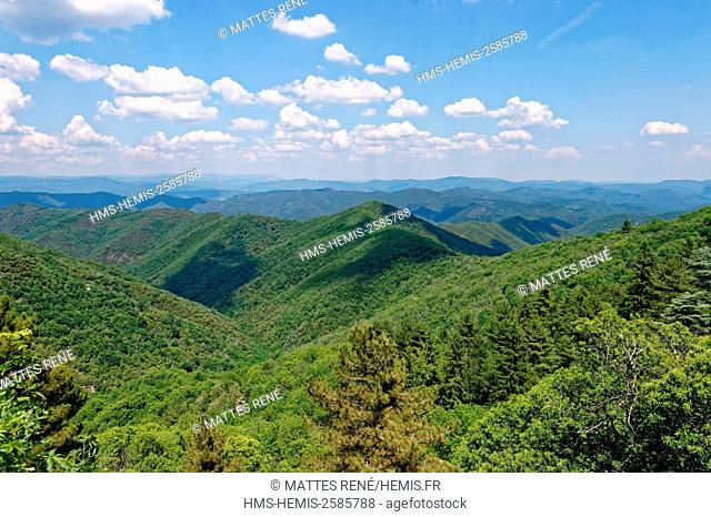 France, Gard, the Causses and the Cevennes, Mediterranean agro pastoral cultural landscape, listed as World Heritage by UNESCO