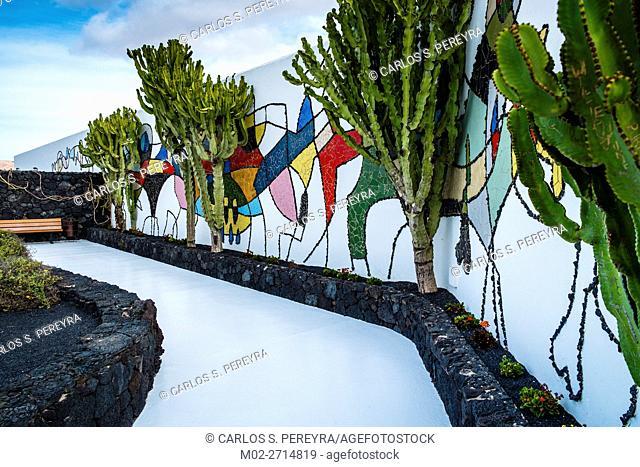 Fundacion Cesar Manrique Foundation in Tahiche in Lanzarote, Canary Islands, Spain