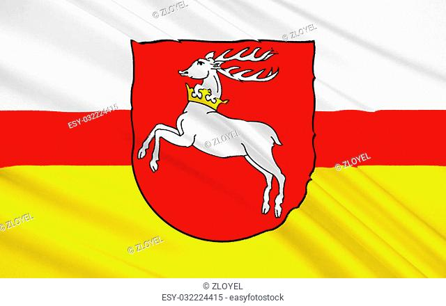 Flag of Lublin Voivodeship or Lublin Province in southeastern Poland