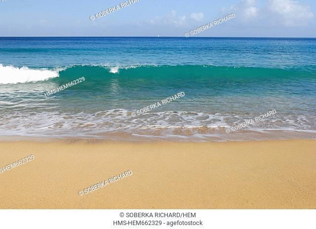 France, Guadeloupe French West Indies, Basse Terre, Deshaies, Grande Anse beach