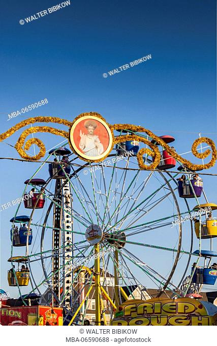 USA, Massachusetts, Cape Ann, Gloucester, St. Peter's Fiesta, Italian-Portuguese fishing community festival, festival decorations