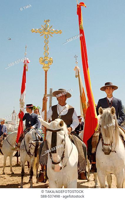 'Romería' (pilgrimage) to El Rocío. Huelva province, Spain