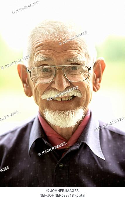 Portrait of a senior man, Sweden