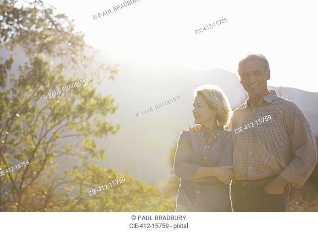 Portrait of happy senior couple outdoors
