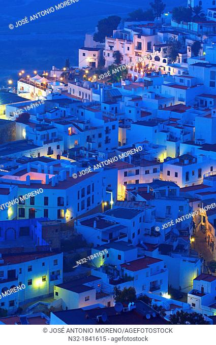 Mojacar, Old town at Dusk, Almeria province, Andalusia, Spain