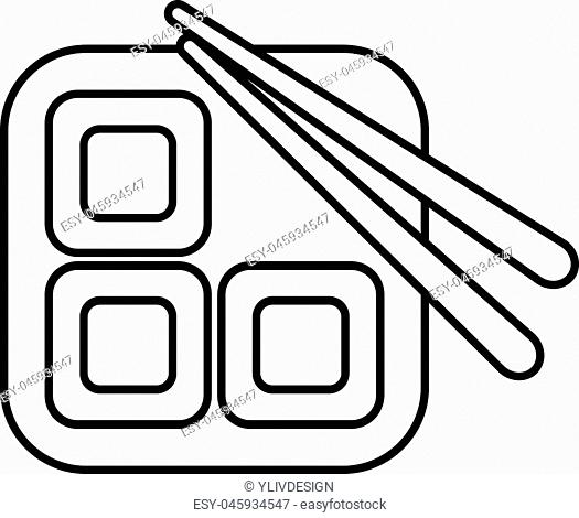 Sushi icon. Outline illustration of sushi vector icon for web