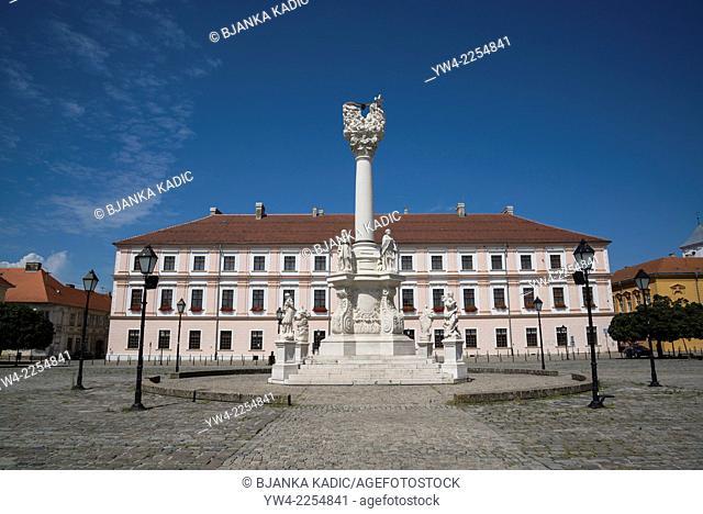Plague Column and Headquarters of Slavonia, Main Square, The Fort, Osijek, Croatia