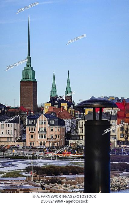 Helsinki, Finland The Eira neighborhood of Helsinki and church spires