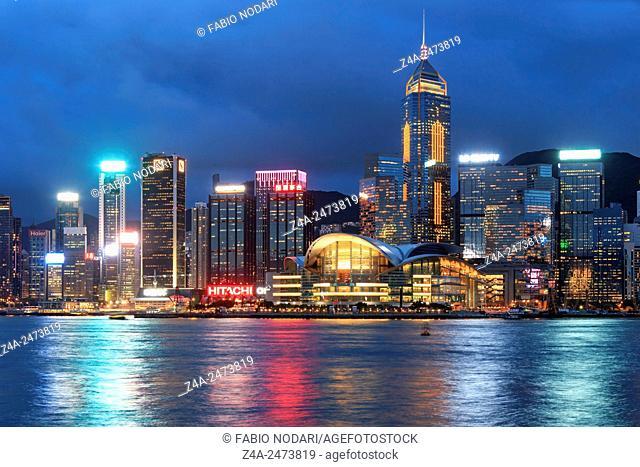 Hong Kong Island from Kowloon at dusk