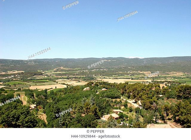 France, Europe, Luberon, Provence, Roussillon, village, ocher, color