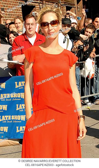 Uma Thurman at talk show appearance for WED - The Late Show with David Letterman, Ed Sullivan Theater, New York, NY, April 16, 2008