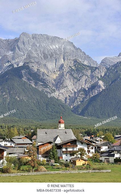 Austria, Tyrol, Mieminger Plateau, Mieming