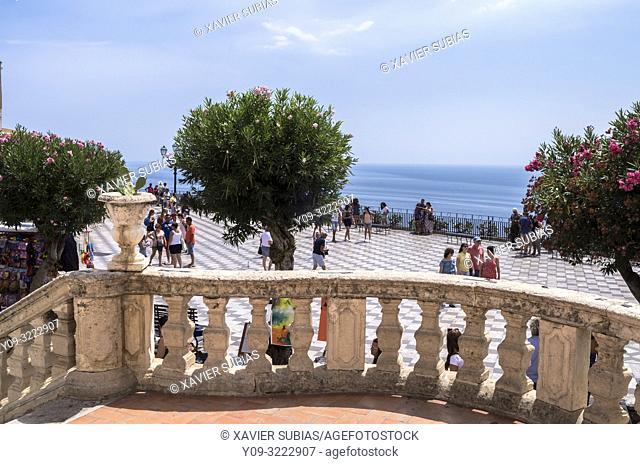 9 April square, Taormina, Sicily, Italy