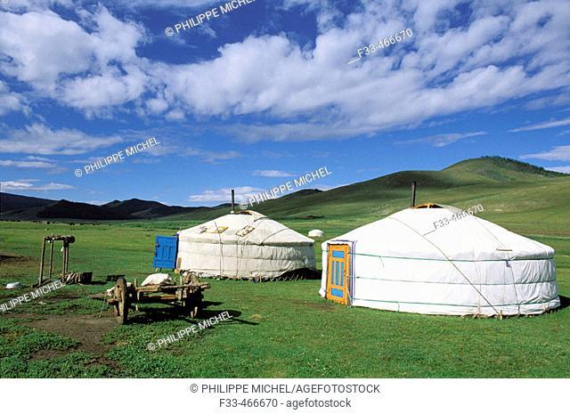 Nomads camp. Snake valley. Arkhangai province. Mongolia