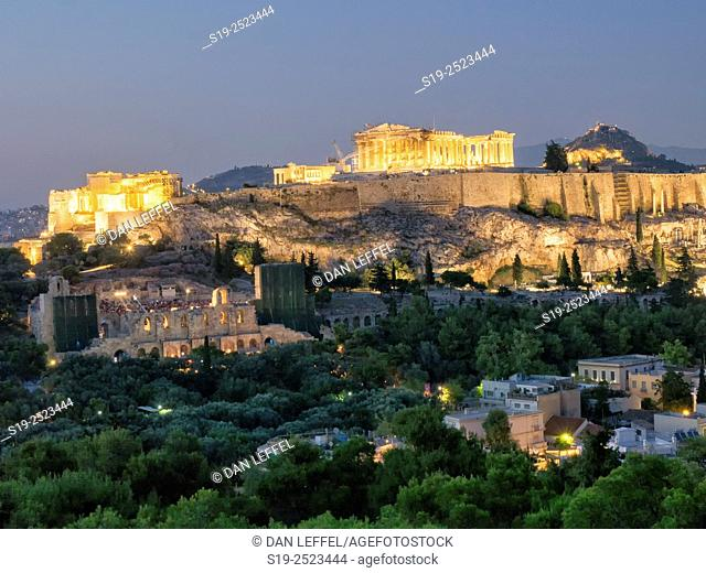 Greece. Athens. Parthenon. Sunset