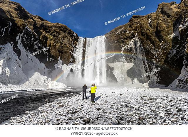 Photographing Skogafoss Waterfall in the Winter, Iceland
